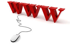 concetto di World Wide Web 3d Fotografia Stock Libera da Diritti
