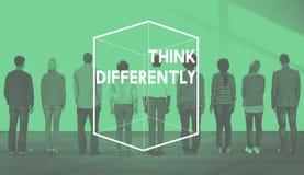 Concetto differente del grafico del cubo di pensiero creativo fotografia stock libera da diritti