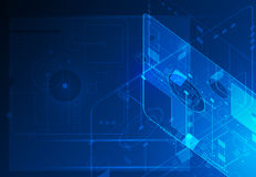 Concetto digitale futuro astratto di tecnologia di scienza illustrazione di stock