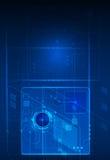 Concetto digitale futuro astratto di tecnologia di scienza illustrazione vettoriale