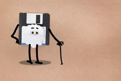 concetto a disco magnetico animato Immagine Stock Libera da Diritti
