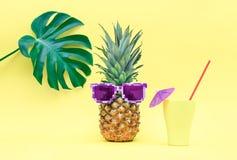 Concetto divertente di estate dell'ananas Immagini Stock