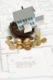 Concetto domestico di investimento Fotografie Stock