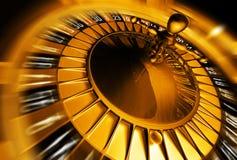 Concetto dorato delle roulette illustrazione di stock