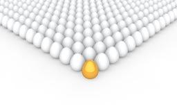 concetto dorato unico dell'uovo 3d Fotografia Stock Libera da Diritti