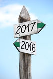 concetto 2016 e 2017 Fotografie Stock