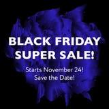 Concetto eccellente di vendita di Black Friday Illustrazione di Stock
