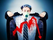 Concetto economico di crisi Fotografie Stock