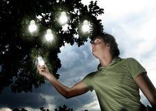 Concetto economizzatore d'energia Fotografie Stock