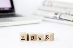 Concetto ed idea di notizie Immagini Stock