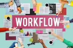 Concetto efficiente di procedura di processo aziendale di flusso di lavoro immagine stock