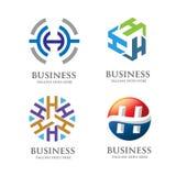 Concetto elegante di logo della lettera H Immagini Stock Libere da Diritti