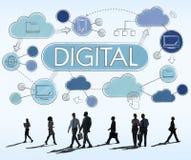 Concetto elettronico della parte di tecnologia avanzata di Digital Fotografie Stock