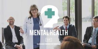 Concetto emozionale di psicologia della medicina di salute mentale Fotografia Stock Libera da Diritti