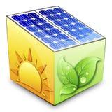 Concetto a energia solare Fotografia Stock Libera da Diritti