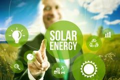 Concetto a energia solare Immagine Stock