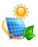 Concetto a energia solare sostenibile Fotografia Stock