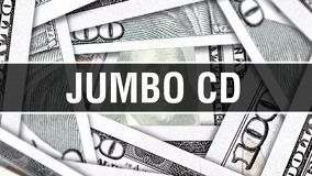 Concetto enorme del primo piano del CD Dollari americani di denaro contante, rappresentazione 3D CD enorme alla banconota del dol illustrazione di stock
