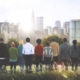 Concetto etnico di associazione di cooperazione dei colleghi diverso Immagini Stock Libere da Diritti