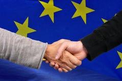 Concetto europeo di accordo fotografie stock libere da diritti