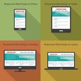 Concetto evolutivo e flessibile di web design Fotografie Stock Libere da Diritti