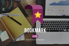 Concetto favorito del sociale di web del homepage di dati del segnalibro fotografia stock libera da diritti