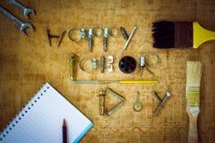 Concetto felice del fondo di festa del lavoro Fotografie Stock Libere da Diritti