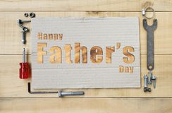 Concetto felice della carta di giorno del ` s del padre Fotografia Stock