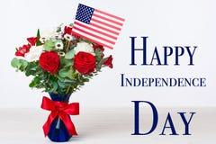 Concetto felice di festa dell'indipendenza Immagine Stock Libera da Diritti