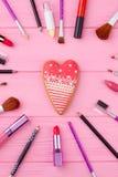 Concetto felice di giorno di biglietti di S. Valentino Fotografie Stock Libere da Diritti