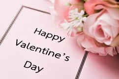 Concetto felice di giorno di biglietti di S. Valentino Fotografia Stock