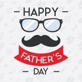 Concetto felice di giorno di padri per l'insegna, invito Fotografia Stock Libera da Diritti