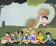Concetto felice di immaginazione di infanzia dei bambini dei bambini Immagine Stock Libera da Diritti