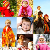 Concetto felice di infanzia Immagini Stock Libere da Diritti