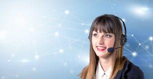 Concetto femminile di telemarketer immagine stock libera da diritti