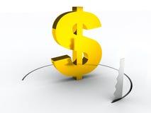 Concetto finanziario dei crisys del dollaro Immagini Stock Libere da Diritti
