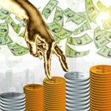 Concetto finanziario dei soldi e di crescita Immagini Stock Libere da Diritti
