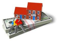 Concetto finanziario del bene immobile Fotografie Stock Libere da Diritti