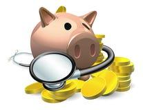 Concetto finanziario del controllo sanitario Immagine Stock