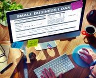 Concetto finanziario della forma di prestito di piccola impresa Immagini Stock Libere da Diritti