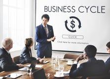 Concetto finanziario di economia del ciclo congiunturale Immagine Stock