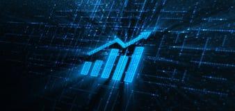 Concetto finanziario di investimento del grafico del mercato azionario del grafico immagini stock