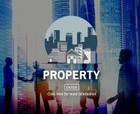 Concetto finanziario di investimento della proprietà di affari della proprietà Immagine Stock
