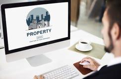 Concetto finanziario di investimento della proprietà di affari della proprietà Fotografie Stock