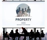 Concetto finanziario di investimento della proprietà di affari della proprietà Fotografia Stock Libera da Diritti