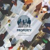 Concetto finanziario di investimento della proprietà di affari della proprietà Fotografie Stock Libere da Diritti