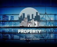 Concetto finanziario di investimento della proprietà di affari della proprietà Fotografia Stock