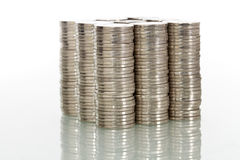 Concetto finanziario di potenza con le monete Immagini Stock Libere da Diritti