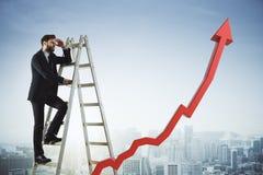 Concetto finanziario di successo e di crescita Fotografia Stock
