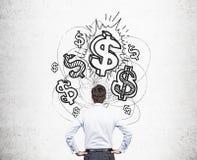 Concetto finanziario di sviluppo fotografia stock